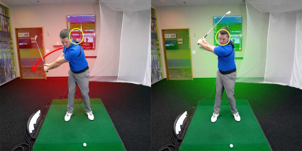 Hit consistent irons with a steady head- head placement